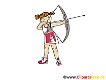Bogenschiessen Bild, Clipart, Comic, Cartoon, Image gratis