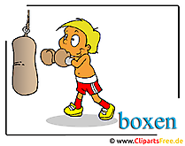 Boxen Cartoon Clipart free Olympiade