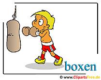 Boksen cartoon clipart gratis Olympische Spelen