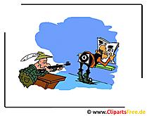 Cartoon Bilder kostenlos - Schiessstand