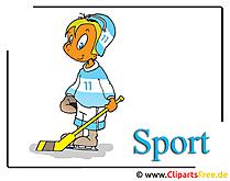 IJshockeyspeler Clipart Cartoon gratis - IJshockey Clipart