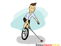 Fiets Polo Illustratie, Cartoon, Clipart, Afbeelding, Strip
