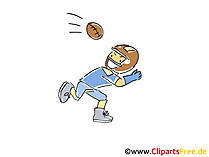 Football Player Sport Clipart, Comic, Cartoon, Image gratis