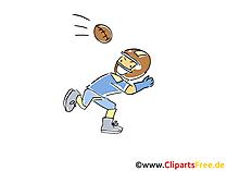 Football Player Sport Clipart, Cartoon, Cartoon, Afbeelding gratis