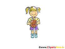 Frauenbasketball Bild, Sport Clipart, Comic, Cartoon, Image gratis