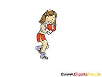 女性ボクシング画像、スポーツのクリップアート、漫画、漫画、無料画像