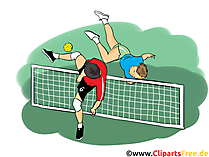 Fussballtennis Clipart, Bild, Cartoon, Comic, Illustration