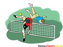 サッカーテニスのクリップアート、イメージ、漫画、コミック、イラスト