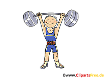 Gewichtheben Bild, Sport Cliparts, Comic, Cartoon, Image gratis