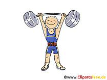 Gewichtheffen Afbeelding, Sport Cliparts, Strip, Cartoon, Afbeelding gratis
