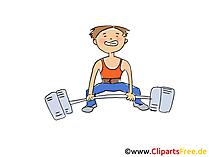Weightlifter afbeelding, Sport Clipart, Cartoon, Cartoon, afbeelding gratis