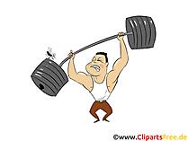 Sollevatore di pesi clipart, illustrazione, immagine