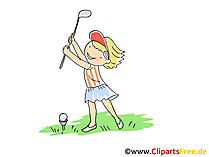 Golf Bild, Sport Cliparts, Comic, Cartoon, Image gratis