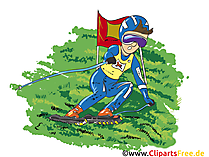 Grasski Cartoon, Clipart, Bild, Comic, Illustration