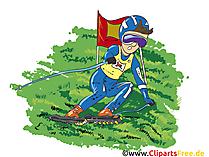 Grasski Cartoon, Clipart, Afbeelding, Strip, Illustratie