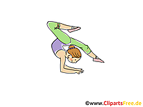 Gymnastikerin Bild, Sport Cliparts, Comic, Cartoon, Image gratis