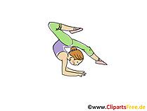 Jimnastikçi Görüntü, Spor Vektör, Komik, Çizgi Film, Görüntü Ücretsiz