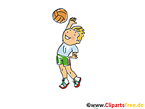 Handball Bild, Cliparts Sport, Comic, Cartoon, Image gratis