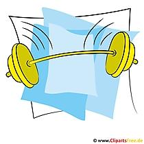 Hantel Clipart - Sport Bilder kostenlos
