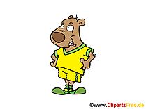 Hund Fussballspieler Clipart, Bild, Cartoon, Comic