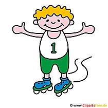 Inline skates gratis sportfoto's
