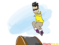 インラインスケート漫画、クリップアート、イメージ、コミック、イラスト