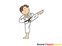 Karate Bild, Sport Cliparts, Comic, Cartoon, Image gratis