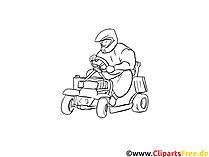 Kart fahren Malvorlagen zum Thema Sport