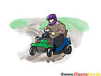 Karting Clipart, Bild, Cartoon, Comic, Illustration