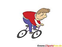 L'uomo va in bicicletta clip art, foto, illustrazione