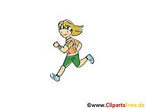 Marathon-afbeelding, Sport Clipart, Strip, Cartoon, Beeld gratis