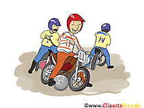 Motoball Grafik, Illustration, Bild, Cartoon, Image