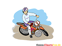 Motoball Meisterschaft Illustration, Bild, Cartoon, Image