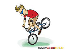Mounting Bike Grafik, Illustration, Bild, Cartoon, Image