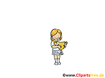 Pokal Bild, Sport Clipart, Comic, Cartoon, Image gratis