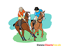 Polopferde Clipart, Bild, Cartoon, Comic, Illustration