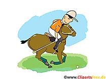 Polo sport foto, cartoon, komisch, illustratie