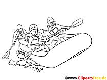 Rafting - Sport Malvorlagen