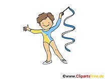 Rhythmic Gymnastics afbeelding, Clipart, Comic, Cartoon, Image gratis
