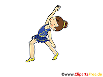 Rhythmische Gymnastik Kunst Bild, Clipart, Comic, Cartoon, Image gratis