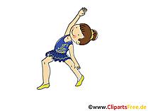 新体操アートイメージ、クリップアート、コミック、漫画、イメージfree