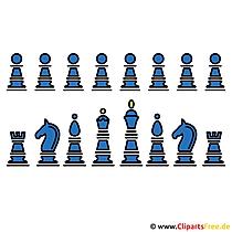 Schach spielen - Sport Clipart gratis