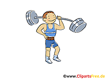 Schwerathlet Bild, Sport Cliparts, Comic, Cartoon, Image gratis