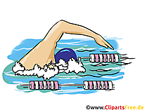 Schwimmen Grafik, Illustration, Bild, Cartoon, Image