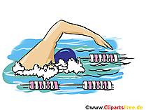 Grafisch zwemmen, illustratie, beeld, beeldverhaal, beeld