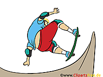 Skate Grafik, Illustration, Bild, Cartoon, Image