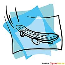 Skateboard Clipart - Sport Bilder kostenlos
