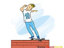 スケートエクストリームスポーツのグラフィック、イラスト、画像、漫画