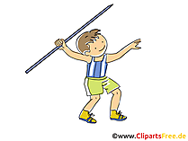 Speerwerfen Bild, Sport Cliparts, Comic, Cartoon, Image gratis