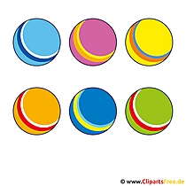 Sport Clip Art - Bunte Baelle